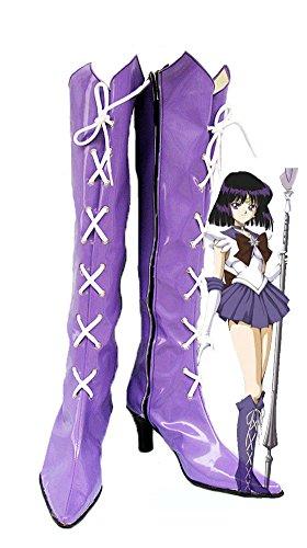 aturn ebenfalls Tomoe Cosplay Schuhe Stiefel Custom Made, Herren, violett (Sailor Kostüme Männer)