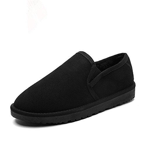 British inverno caldo Snow Boots plus trend di velluto di cotone di slittamento scarpe Black A
