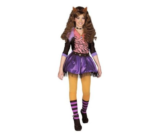 Aptafêtes – cs801087/10–12 10/12 Jahre – Monster High – Y Clawdeen Wolf Kostüm – One Size