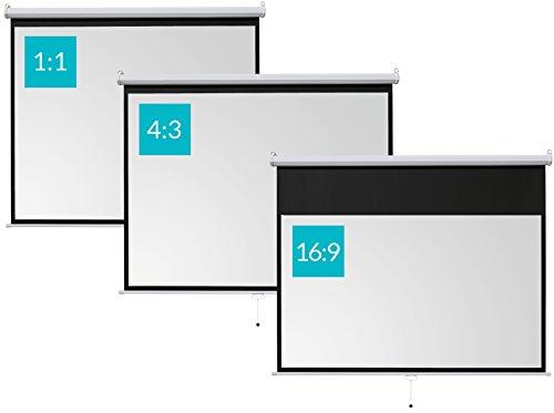 ivolum Rolloleinwand 200 x 150cm Nutzfläche | Format 4:3 | Als Heimkino-Leinwand oder Business-Leinwand einsetzbar | einfach Montage und Bedienung | Beamer-Leinwand in verschiedenen Größen erhältlich - 6