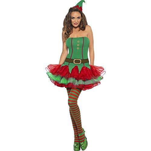 Fever, Damen Elfen Kostüm, Tutukleid und Hut, Größe: M, (Elfen Fröhliche Kostüme)