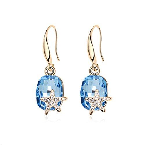 NEVI Star Round Fashion Swarovski Crystals Champai...