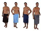 Betz Saunakilt Herren Sauna Handtuch Sarong Kilt Saunatuch mit Knöpfen und Gummizug Farbe anthrazit