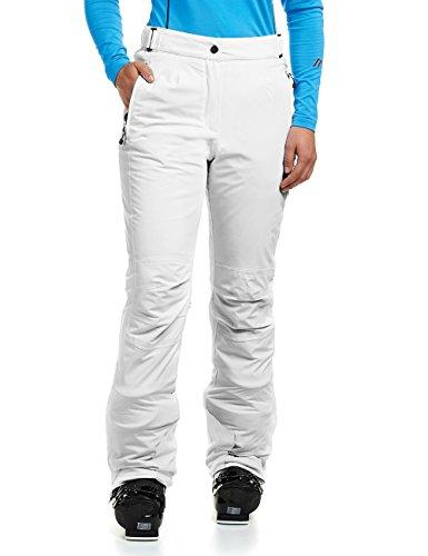 Maier Sports Damen Skihose Vroni Slim, Weiß (white/600), Gr. 72 - Rei Skihose