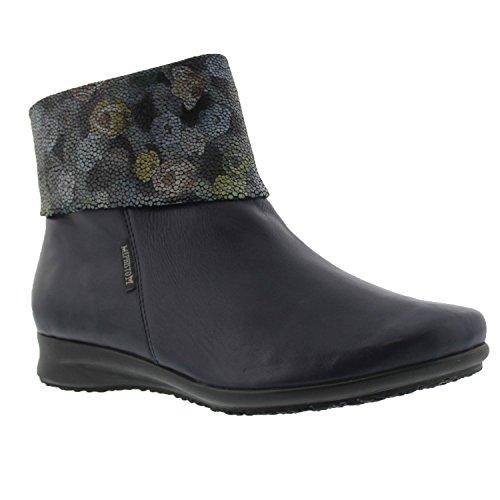 Mephisto Womens Fiducia Leather Boots Navy