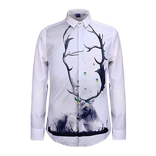 MAYUAN520 Chemises Chemise homme Mode Nouvelle Méduse shirt Impression 3D Boy Top Tee Shirt DC Comics Loisirs camisa masculine chemise homm Shirts,bleu ciel,M