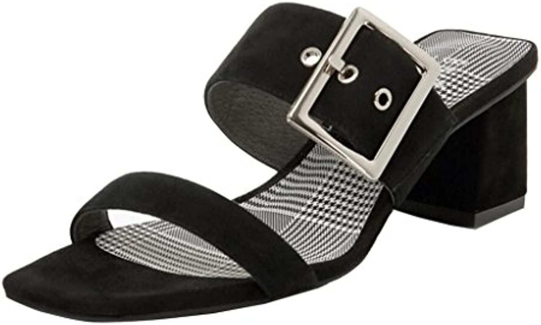 Sandalias Femeninas con Zapatos Zapatos de Tacón con Verano áspero