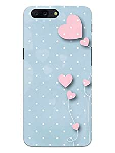 OnePlus 5 Back Cover - Love Bloom In Hearts - So Lovely - So Girly - Hard Shell Back Case