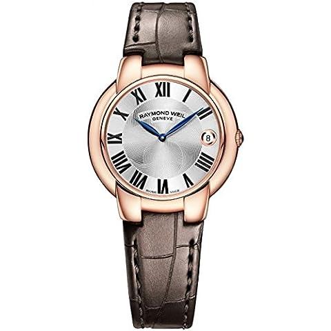 Raymond Weil 5235-PC5–0165937mm oro rosa Funda de piel color marrón no Sapphire reloj de pulsera de mujer
