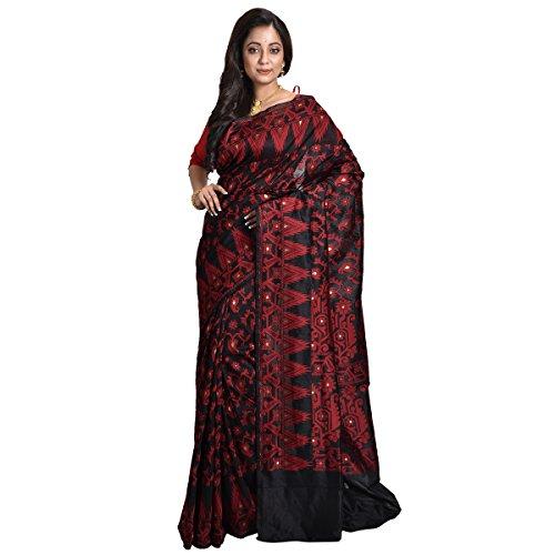 Avik Creatios Womens Latest Design Traditional Designer Handloom embroidery sarees on heavy...