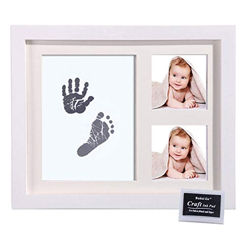 H-ONG Baby Handprint Footprint Photo Frame Kit Infant Hand Foot Touch Print Ink Pads for Newborn Room Wall or Nursery Decor - Ink-pad-kit