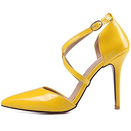 Zanpa Donna Mode Criss Cross Sandali 5 Colors Yellow