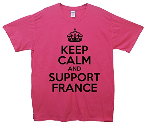 Keep Calm and Support France T-Shirt Rosa