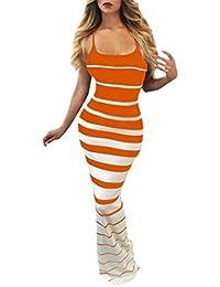 Vestido Para Mujer,BBestseller Mujeres sexy sin mangas vaina Strapless vestido de fiesta vestido largo