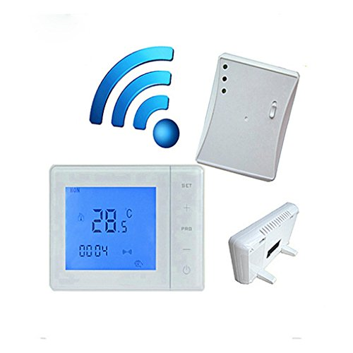 433MHZ Wireless-Gas Boiler Thermostat HF Kontroll 5A-Wandkessel Heizung Thermostat Digital LCD Temperaturregler