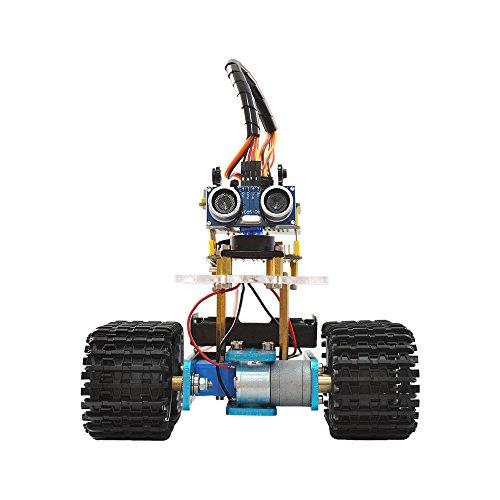 keyestudio Bluetooth Ultraschall-Fernbedienung Tank DIY Smart Auto Roboter für Arduino Starter (Roboter-diy)