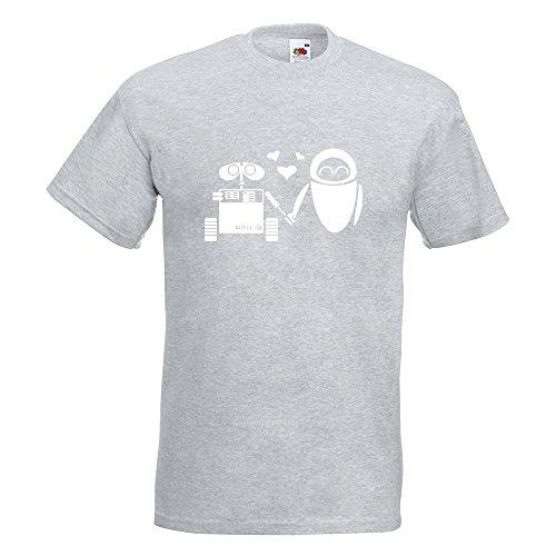 KIWISTAR - Computerliebe T-Shirt in 15 verschiedenen Farben - Herren Funshirt bedruckt Design Sprüche Spruch Motive Oberteil Baumwolle Print Größe S M L XL XXL Graumeliert