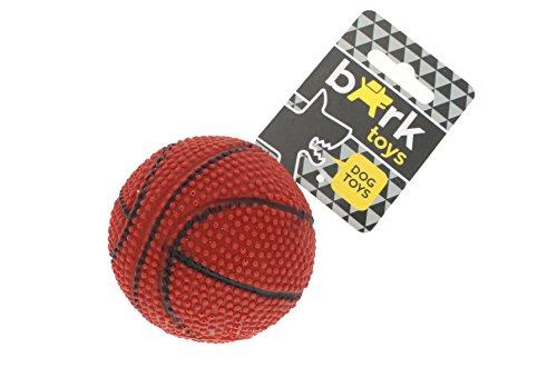 Vinyl-korb (Bark–Ball aus Vinyl, Gummi, nicht giftig für mittelgroße Hunde. Form-Ball Basket. Für kleine Hunde und große. Spiel in Innen und Außen. Mit Sound, flexibel.–Marron)