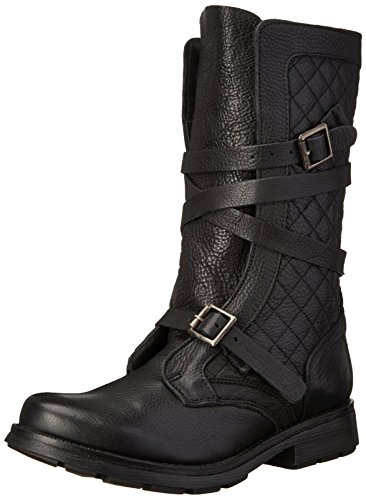 Steve Madden Bounti Cuir Botte Black