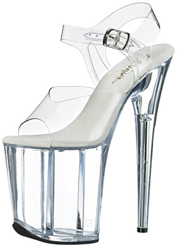 Pleaser - Flam808/C/M, Sandali Donna Transparent (Clear)