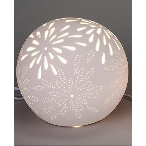 formano Kugellampe, Tischlampe, Leuchte Aurea Blume Ø 21cm weiß Keramik -