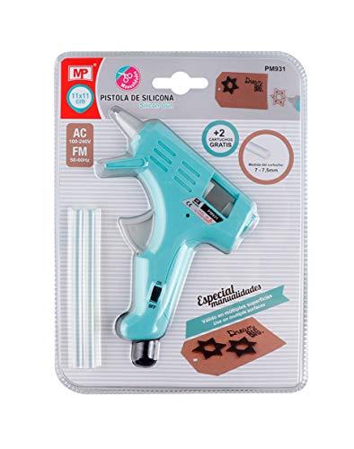 Pistola de silicona termofusible 11x11 cm para cartuchos de 7-7,5mm