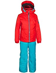 Phenix Bergen Two Traje de esquí para niña, rojo, 4-8