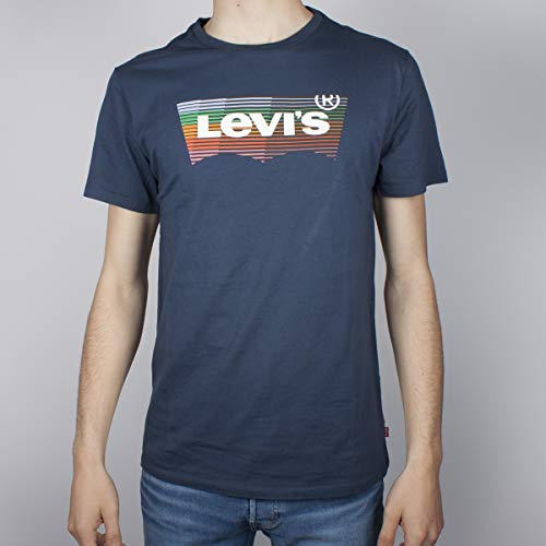 Levi's Housemark Graphic Tee, T-Shirt Uomo, Blu (Hm Ssnl Dress Blues 0211), X-Large