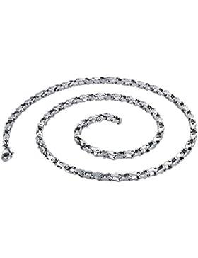 Epinki Edelstahl Herren Halskette, Fahrradkette Form Anhänger Herrenkette Surferkette Poliert Ketten Silber 0.6x54.5CM