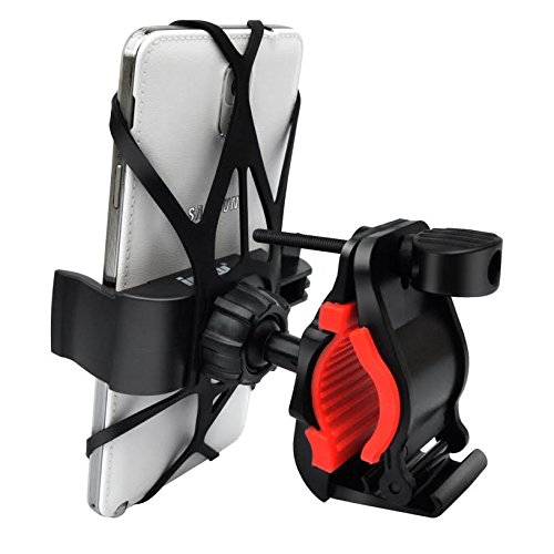 MMOBIEL Universal Mobile Phone Holder (mobile Smartphone) for Bicycle or Motorcycle Mount on the fork, fits automatically. Includes Rubber Assembly and Silicone Strap.