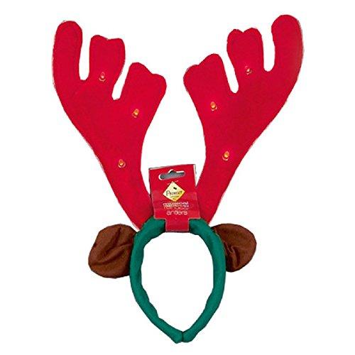 cher Haarreifen mit Rudolph Geweih (40cm) (Rot) (Rudolph Geweih)