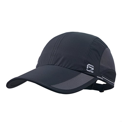 GADIEMENSS GADIEMENSS Quick Dry Sports Hat Lightweight Breathable Soft Outdoor Running Cap (Classic UP, Black)