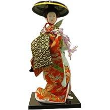 Autentica Geisha giapponese Vintage Figur: 9pollici # 5