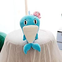 anlala Super Soft Dolphins Plush Toy Doll Small Sleeping Pillow Bed Rag Doll Gift Gift Girl Small Size: 30Cm In Length Azure