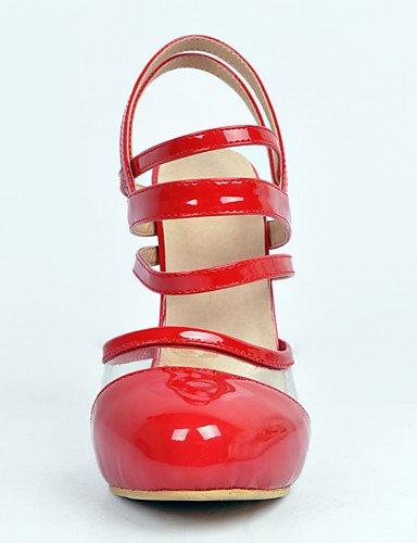 WSS 2016 talons en cuir chaussures de brevet talon aiguille / talons bout rond mariage / fête des femmes&soirée rouge red-us10.5 / eu42 / uk8.5 / cn43
