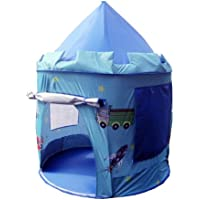 Puregadgets© Prince George Fairy Tale Castle Pop Up Children's Tent with Windows and Roll Up Door Indoor or Outdoor Garden use