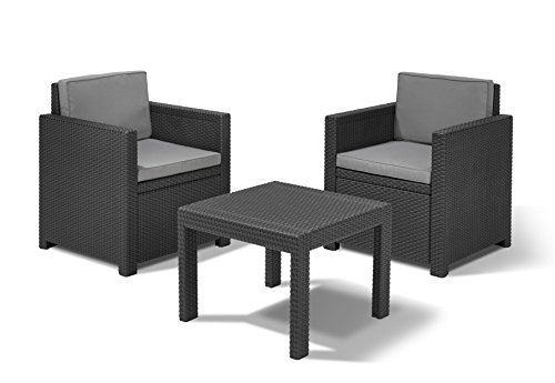 Allibert Lounge Set Victoria Balcony, Grau, 3-teilig