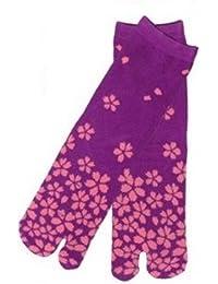 Chaussettes Tabi Japonaise Hommes&Femmes Set 6 Import Direct du Japon socks (Yozakura(夜桜))