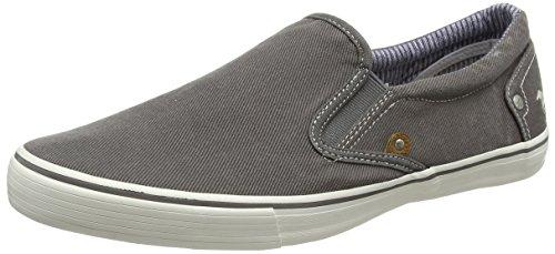 MUSTANG Herren 4101-401-2 Slip On Sneaker, Grau 2, 42 EU Canvas-slip-schuhe