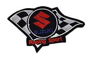 """ Suzuki - Racing Sports "" Patch Sticker Turf Logo Applique Insigne à coudre Rocker Biker Écusson brodé Ecussons Imprimés"