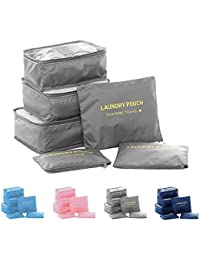 Perfect SHOPO Women Men Travel Storage Bag Waterproof High Capacity Luggage Clothes Organizer Bag (Set Of 6)
