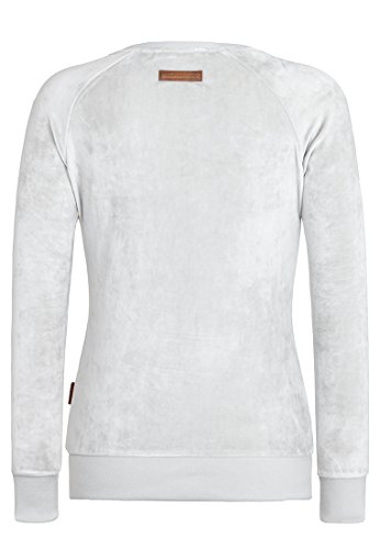 naketano femelle Sweat-shirt Mackin Car Hoes IV Light Grey