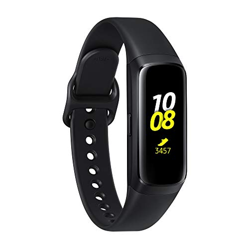 "Samsung Galaxy Fit Black, com Monitor de Frequência Cardíaca, Acelerômetro, Giroscópio, Tracker de Treinamento, Display 0.95 ""Full Color AMOLED Full Touch, Bateria 120mAh"