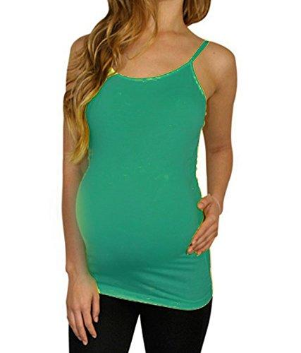 Shop Pretty Girl Frau Mutterschaft Basic nahtlose Tank-Top Grün