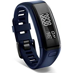 Garmin Vívosmart HR - pulsera de actividad con pulsómetro integrado Garmin Elevate, color azul, talla normal