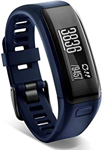 Garmin vívosmart HR Fitness-Tracker - integrierte Herzfrequenzmessung am Handgelenk, Smart Notifications, Blau, Gr.Regular