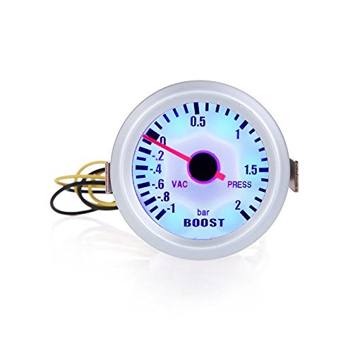 KKmoon Turbo Boost Vacuum Press Gauge Mètre pour Auto Car 2 1 ~ 2bar de 52 mm Blue LED Light