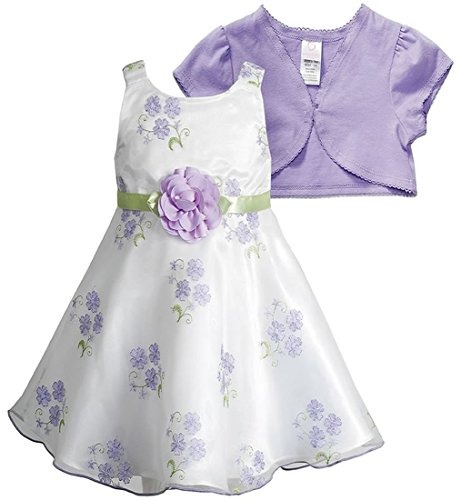 Youngland Traumhaftes Mädchen Organza Petticoat Kleid inkl. Kurzarm Bolero Gr. 104,110,116 Größe 116 - Organza Jacke