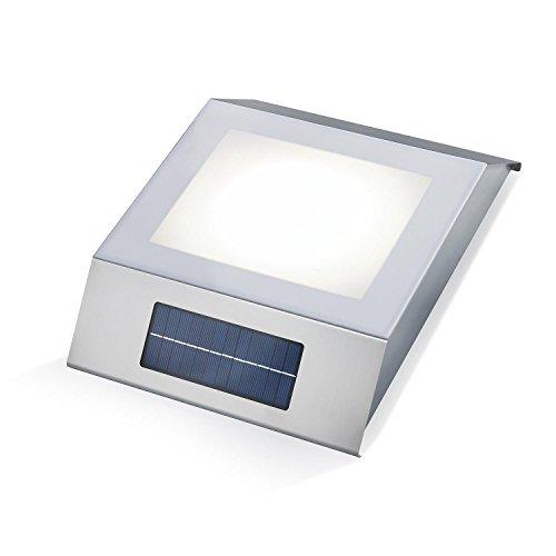 Solar Leuchttisch Gomera Lichtfarbe kaltweiß 6000K 42 x 33 cm Solarleuchte Tischleuchte 102023
