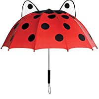 Kidorable U0100LB Kids Children 100% Nylon All Season Umbrella Brolly - Ladybug